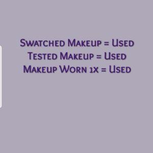 New, NWT Makeup vs Used Makeup